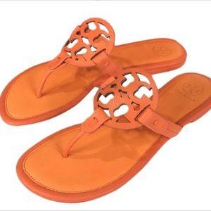 Tory Burch Miller Sandal Poppy Red/Aragosta Size 7